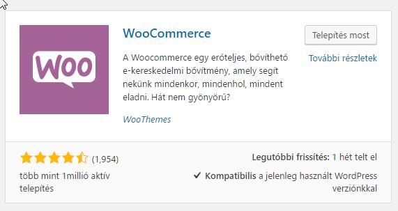 Woocommerce magyarul
