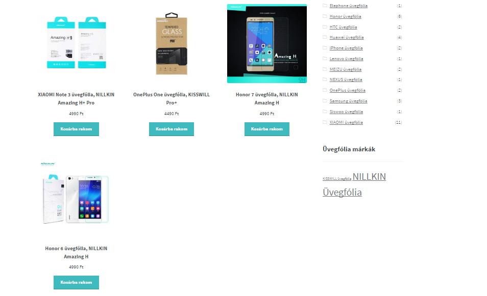 Listázott termékek száma