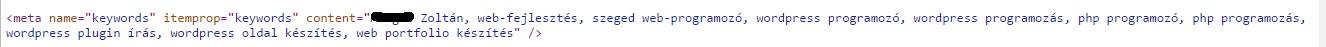 meta keyword rossz példa