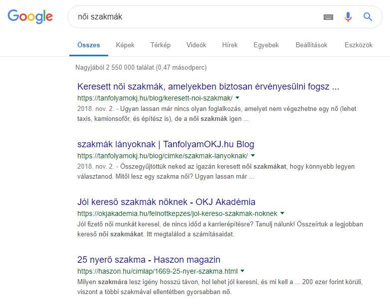 Csernai Kata SEO szakember referencia: SEO szövegírás